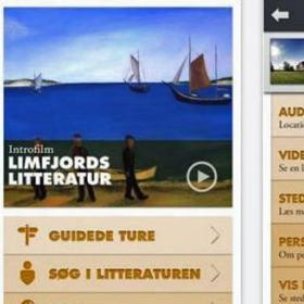 Limfjords litteratur - app (print screen)